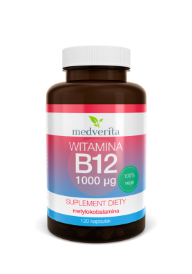 Witamina B12 (metylokobalamina) 1000 µg  120 kapsułek