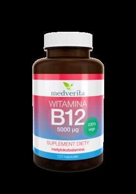 Witamina B12 metylokobalamina 5000µg  120 kapsułek