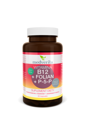 Witamina B12 (metylokobalamina) + Folian Quatrefolic® + P-5-P (B6) - 60 kapsułek