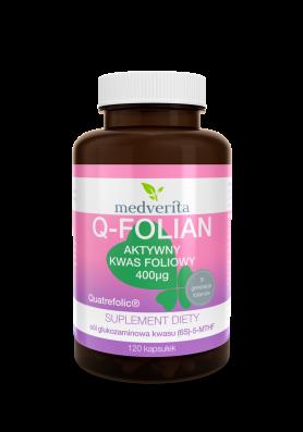 Q-Folian Quatrefolic® aktywny kwas foliowy 400µg - 120 kapsułek